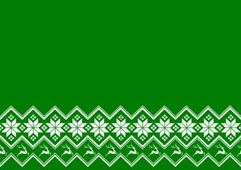 Green A4 Background Sheet with Snowflakes & Reindeer *
