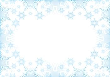 Ice Blue Snowflake - A4 Insert/Background . *