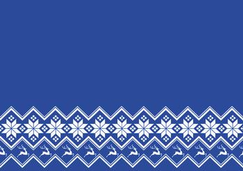 Blue A4 Background Sheet with Snowflakes & Reindeer *