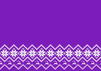Purple A4 Background Sheet with Snowflakes & Reindeer *
