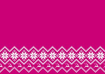 Pink A4 Background Sheet with Snowflakes & Reindeer *