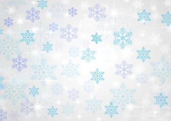 Blue & White A4 Snowflake Background Sheet *