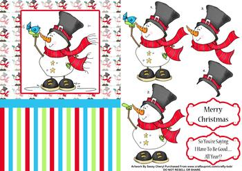 Snowman Card by Sassy Cheryl  - Papertole Exclusive Topper Sheet . *
