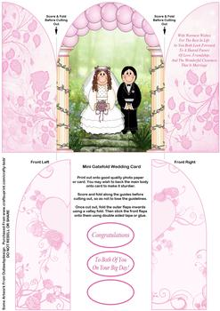 Mini Gatefold Wedding Card - Papertole Exclusive Sheet *