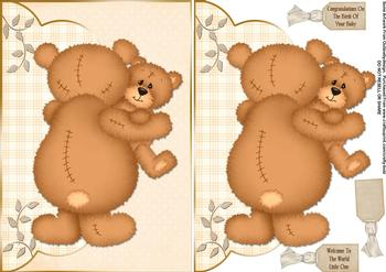 Congratulations New Baby - Papertole Exclusive Topper Sheet . *