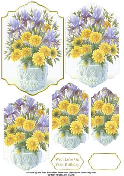 Spring Flowers - Papertole Exclusive Step by Step Sheet *