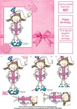 Birthday/Daughter  - Papertole Exclusive Pyramid  Sheet *