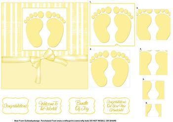 Welcome to the world/New Baby - Papertole Exclusive Topper Sheet . *