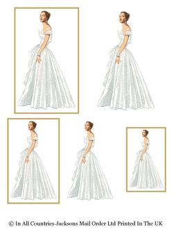 Wedding Day Topper - Bride to Be - 2 x Toppers & 1 Bride Image . -Jacksons mail Order