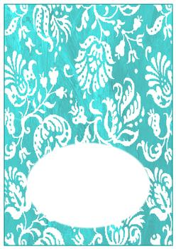 Turquoise Insert to Match other items - PTO50, PTO51, PTO52 - Can be purchased on its own too! . -Jacksons mail Order
