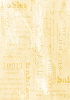 Yellow Background Sheet - Babies / Children / Mother to Life / What is it to be a child - Wordings & more . -Jacksons mail Order