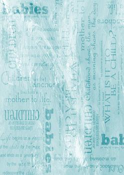 Turquoise Background Sheet - Babies / Children / Mother to Life / What is it to be a child - Wordings & more . -Jacksons mail Order