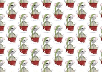Christmas Mouse Background Sheet to Match other items - PTO79 PTO80 PTO81 . -Jacksons mail Order