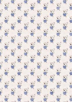 Cute Dog with Flower BACKING SHEET to Match other items - PTO83 PTO84 PTO86 . -Jacksons mail Order