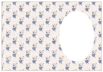 Cute Dog with Flower INSERT SHEET to Match other items - PTO83 PTO84 PTO85 . -Jacksons mail Order