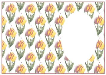 Tulip INSERT SHEET - OTHER MATCHING ITEMS - PTO91, PTO92, PTO93 - Part of the Fancy Floral Range . -Jacksons mail Order