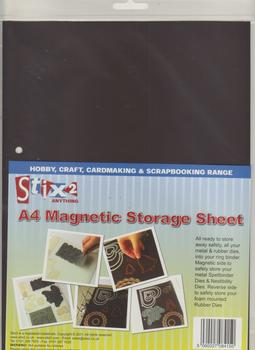 A4 MAGNETIC STORAGE SHEET WITH PUNCHED HOLES .