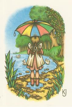 Girl by Lake with Umbrella - Topper - 3