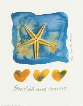 STARFISH AND HEARTS No 2 (blue background) 10