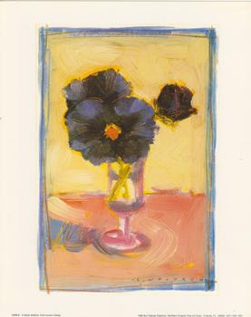 Purple Flowers in Wine Glass **Still Life Print** by Sarah Waldron - 10