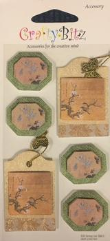 2 different Designs - Oriental Tags & Oriental Topper -Jacksons mail Order