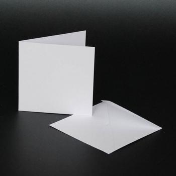 4x4 White Cards & Envelopes (10 Pack) . www.papertole.co.uk