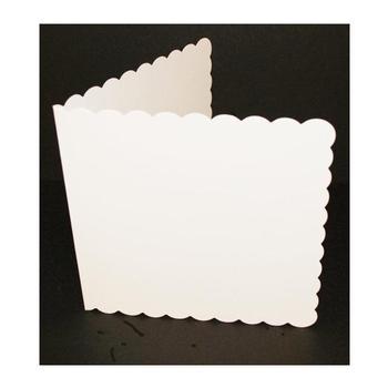 8x8 Scalloped White Cards & Envelopes (25 Pack) . *