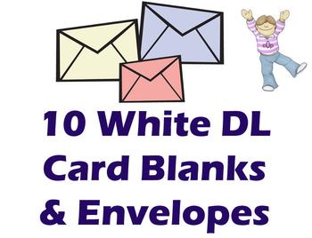 DL White Cards & Envelopes (10 Pack) ..
