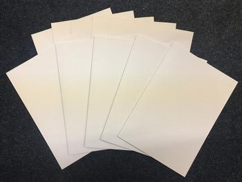 Pack of 5 - C5 Card & Envelopes - 300gsm - with a Silky Smooth High White Appearance  . -Jacksons mail Order