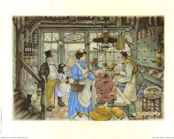 Anton Pieck - The Grocery Store Anton Pieck