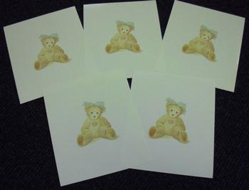 Cute Teddy Bear with headband Pack of 5 r Priscilla Hillman