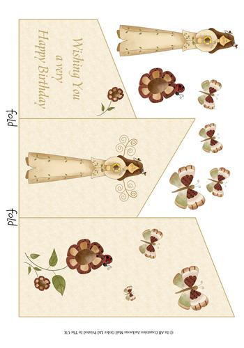 Cascade Tri Fold Sheet - Wishing you a Happy Birthday 3d Card Art RRP 75p