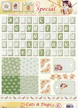 A4 Cats & Dogs Special sheet No 6 Pack of Ten *