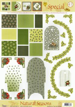 A4 Christmas Themes Special sheet No41 Pack of Ten *