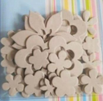 Chipboard Flower Die Cut Card Embellishments . *