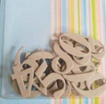 Chipboard Large Number Die Cut Card Embellishments *