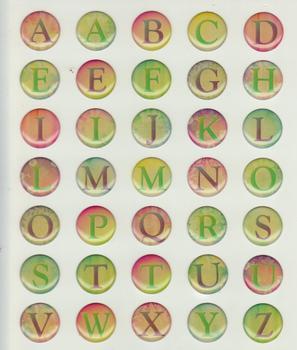 Epoxy Sticker Alphabet 3D Autumn Colours Card Stickers A-Z *