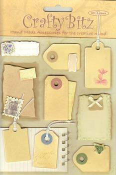 Luggage Tag Steampunk Retro Card Embellishments *