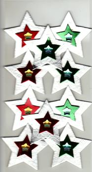Green & Red Christmas Stars - Card Embellishments *