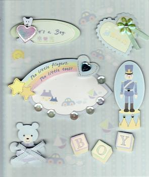 New Baby Boy Card Embellishments by Crafts House . *