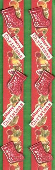 3D Christmas Border with Christmas Stocking, Merry Christmas Sentiment and Festive Fruits *