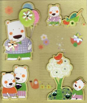 Happy Bear Jewelled 3D Sticker Collection *