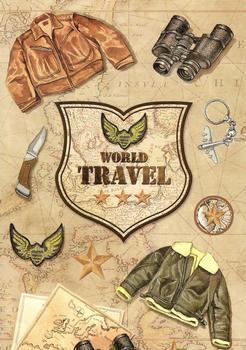 World Travel Vintage Steampunk Sticker Collection . *