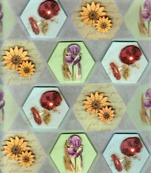 Glittered Sunflowers & Poppies 3D Sticker Collection . *