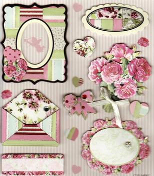 Beautiful Roses - Craft House 3D Stickers . *