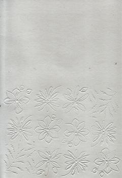 Pack of 5 White Embossed  Blank Cards & Envelopes - Size 7