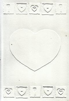 Pack of 5 Off White Embossed Blank Cards & Envelopes 7