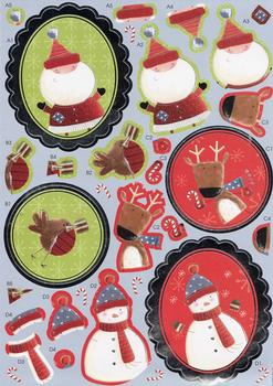 Christmas Card Toppers - Diecut Sheet . *