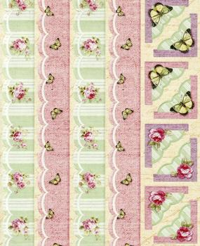 Beautiful Butterfly & Roses Flat Stickers . *