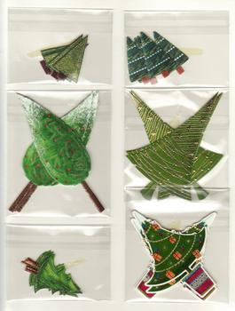 Die Cut Card Embelishments - Christmas Trees . *
